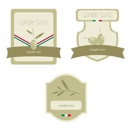 extra virgin olive oil: Olive oil label   icon for the corporate brand or model of menu Illustration