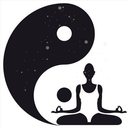 d�tente: Yoga Illustration