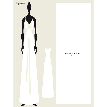 nightgown: illustration of three soft nightgowns other times Illustration