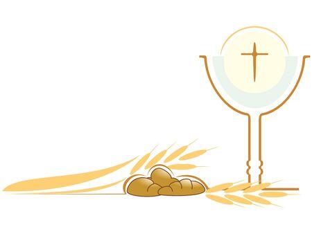 Christian religious symbols Stock Vector - 9523101