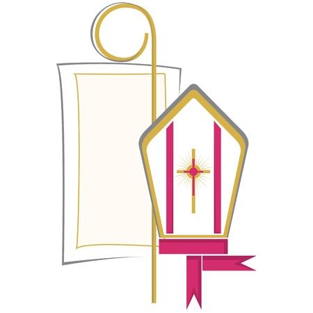 Christian religious symbols Stock Vector - 9523100