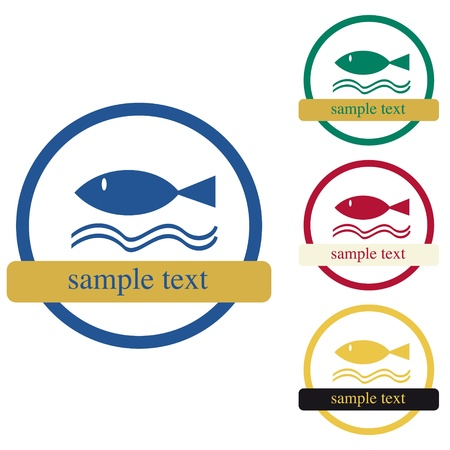 Design of label for product  Fish