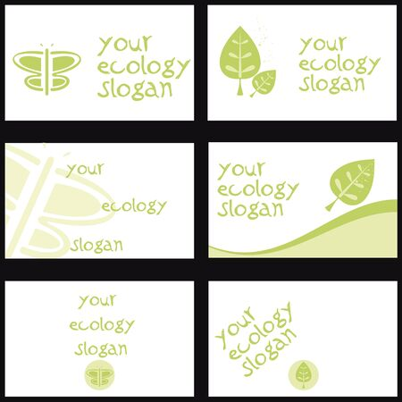 wellness environment: Set of six cards with a specific topic  Ecology