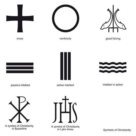 Symbols of ancient christianity Stock Vector - 9667738