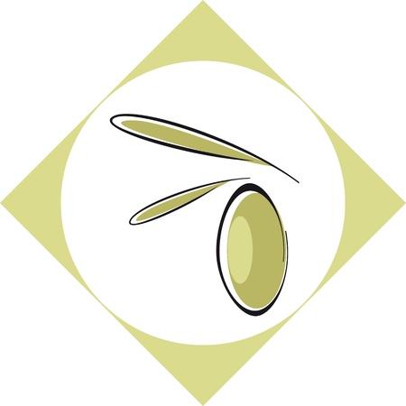 Olive logo or packaging Ilustracja
