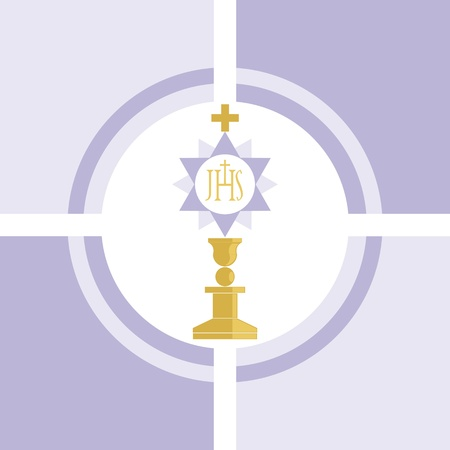 one of the many symbols of the christian religion Illustration