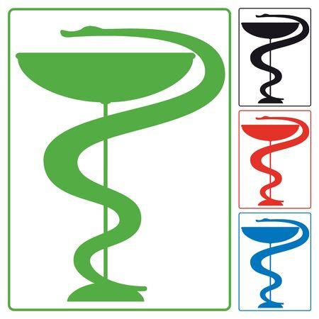pharmacy snake symbol: s�mbolo m�dico