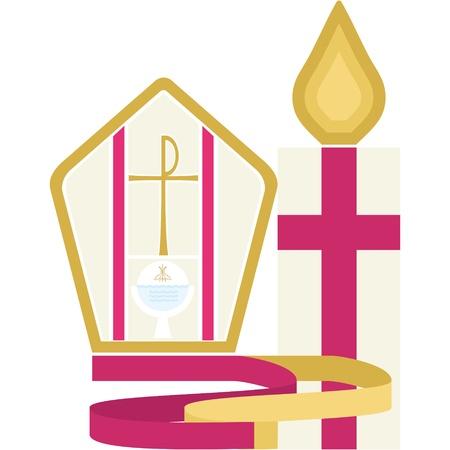 Religious Symbol - Confirmation Ilustracja