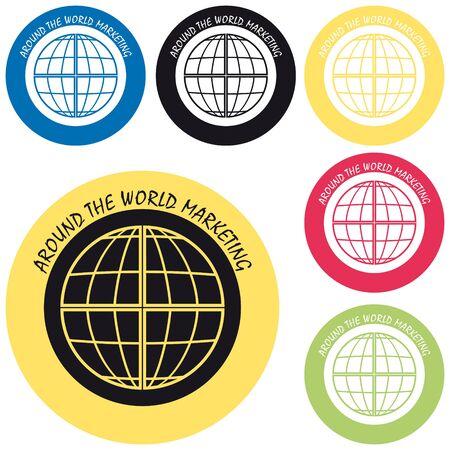 world trade: Marketing Mundial Vectores