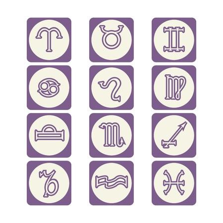 Zodiac Signs Ilustracja