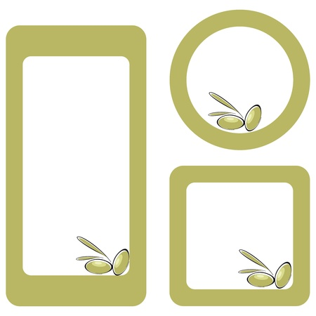 Three labels for olive oil Ilustracja