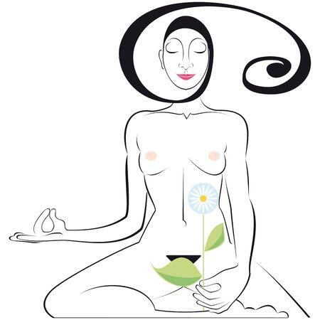 breathe: Yoga Position Illustration