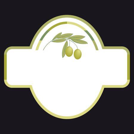 оливки: Одноместный этикетки для оливкового масла Иллюстрация