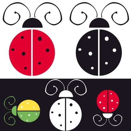 ladybird symbol and sign Stock Vector - 10461225