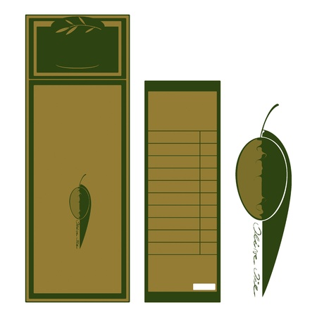 label olive oil, front and back Vector