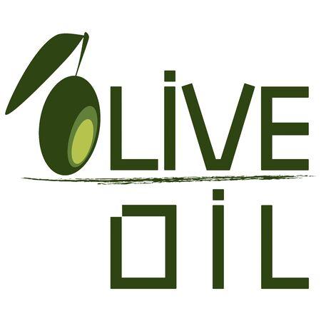 mediterranean food: olive logo or packaging Illustration