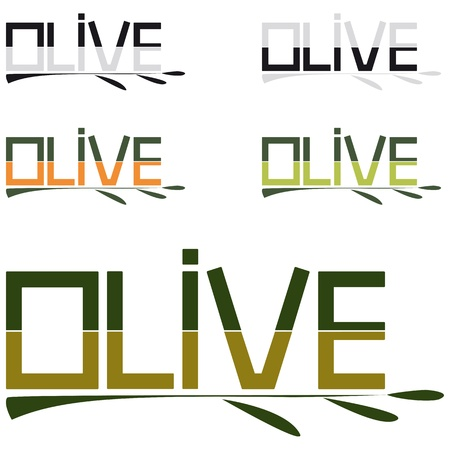 olive logo or packaging Vector