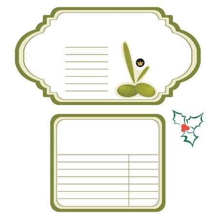 salatdressing: Olive Oil Label-