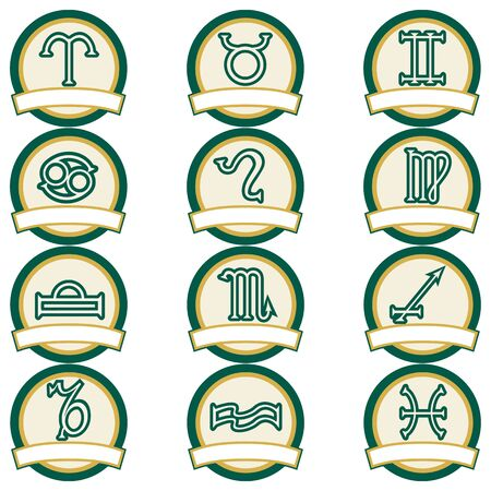 Set of Zodiac signs Stock Vector - 11006335