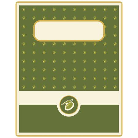 mediterranean food: Olive oil label Illustration