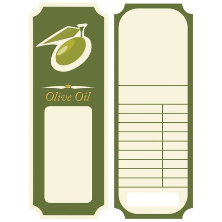Vector - olive oil label, template Vector