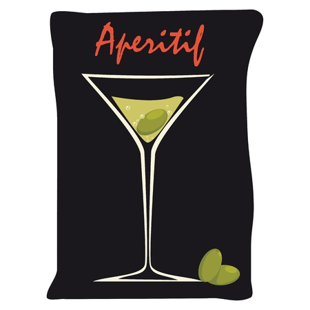 oval  alcohol: Aperitif with Olives