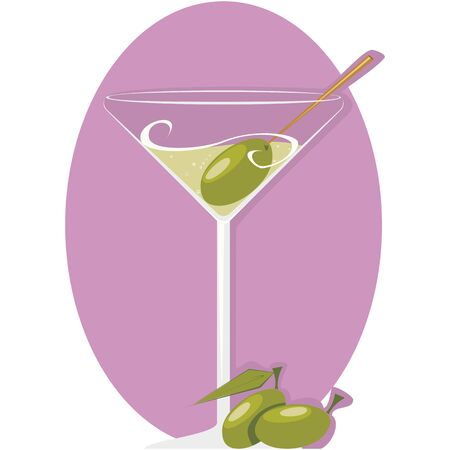 aperitif: Aperitif with olives Illustration