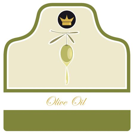 Olive Oil Label Stock Vector - 11376996