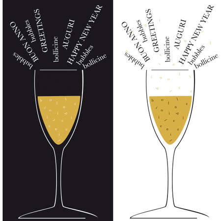 champagne bubbles: New Year