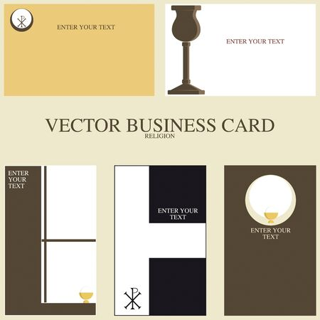 specific: Set of five cards specific professional  Religious