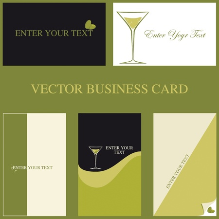 specific: Set of five cards specific professional  Barman