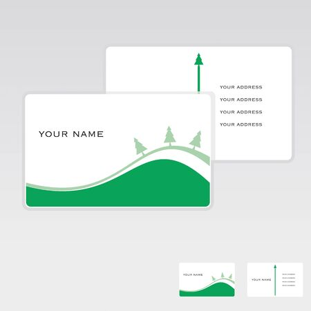 Vector business card set, design elements. Vector