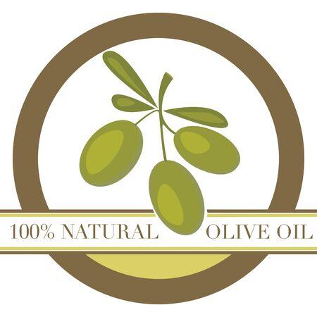 mediterranean food: Olive Oil  Label