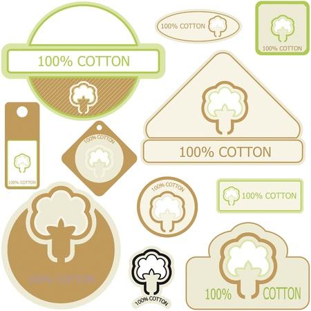 Etiquetas de algodon Ilustración de vector