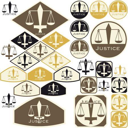 giustizia: Simbolo della giustizia - Tags Vettoriali