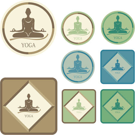 Yoga - Labels Vector