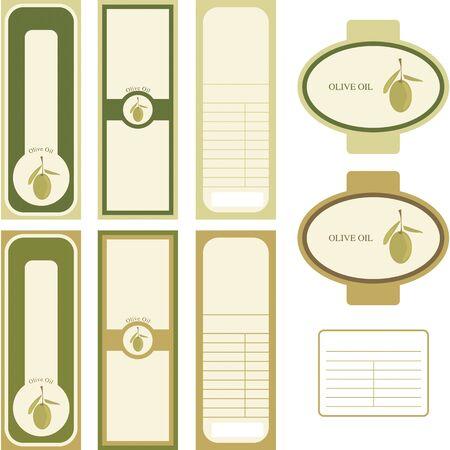 Label for Olive Oil Ilustracja