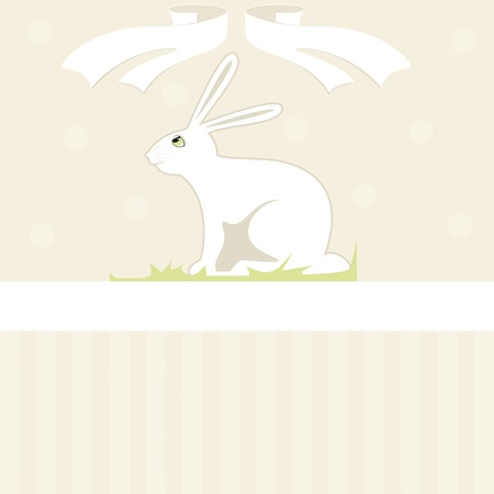softly: Easter bunny card