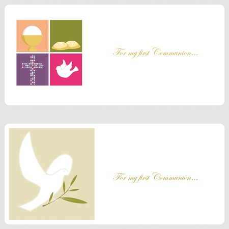 first communion: First Communion or Confirmation invitation card