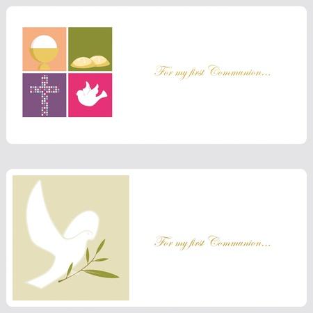 baptism: Primera Comuni�n o Confirmaci�n de tarjeta de invitaci�n