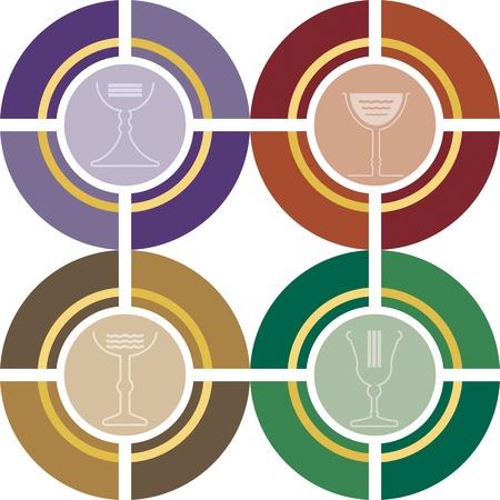 eucharist: Religious Symbols Illustration