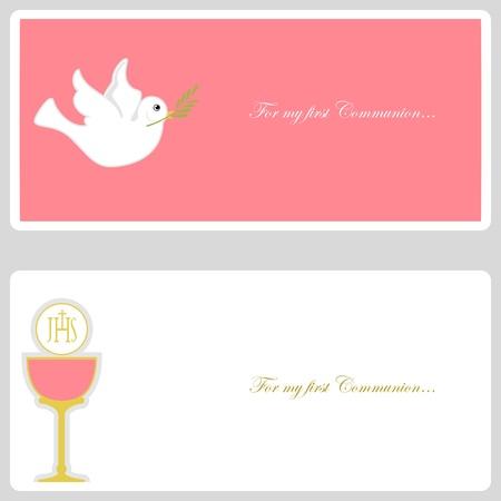 première communion: Première communion ou la confirmation carton d'invitation Illustration