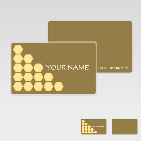 honey cake: Vector Business Card set