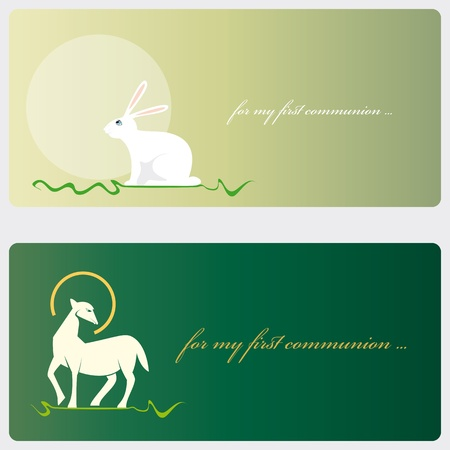 lamb: First Communion or Confirmation invitation card