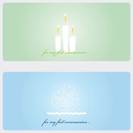 First Communion or Confirmation invitation card Vector