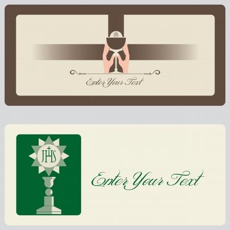 liturgy: Religion - Invitation Cards Illustration