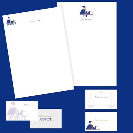 legality: Business cards and letterheads with leaves Illustration