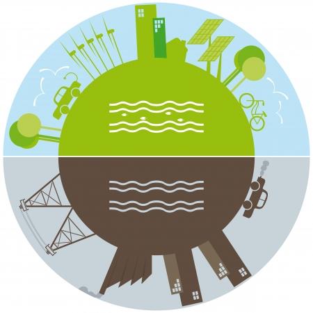 desarrollo sustentable: Vida verde contra la contaminación