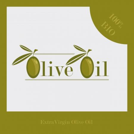 macro leaf: Olive Oil Label