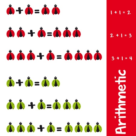addition: Arithmetic with ladybugs